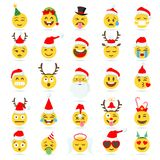 Bożenarodzeniowy Emoticon wektoru emoji ilustracji