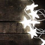 Bożenarodzeniowy girlandy tło z światłami i bezpłatnego teksta przestrzenią Zdjęcie Royalty Free