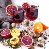 Bożenarodzeniowy gorący napój w szkle Obraz Royalty Free