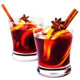 Bożenarodzeniowy Gorący rozmyślający wino dla zimy z pikantność odizolowywać na whi Obraz Royalty Free