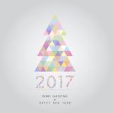 Bożenarodzeniowy i szczęśliwy nowy rok karty tło 2017 ilustracja wektor