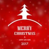 Bożenarodzeniowy i szczęśliwy nowy rok karty tło 2017 ilustracji