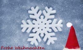 Bożenarodzeniowy kapelusz, płatek śniegu, włókno tkanina i błyskotliwość film, tło fotografia stock