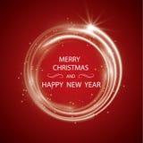 Bożenarodzeniowy kartka z pozdrowieniami światła wektoru tło Wesoło bożych narodzeń wakacje życzą projekta i rocznika ornamentu d ilustracja wektor