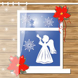 Bożenarodzeniowy kartka z pozdrowieniami Zdjęcia Stock