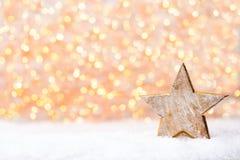 Bożenarodzeniowy kartka z pozdrowieniami z bożego narodzenia złota dekoracjami Obraz Stock