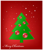 Bożenarodzeniowy Kartka Z Pozdrowieniami, Wesoło Boże Narodzenia Obraz Stock
