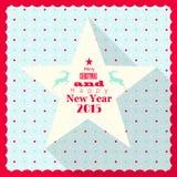 Bożenarodzeniowy kartka z pozdrowieniami z biel gwiazdą Obrazy Stock