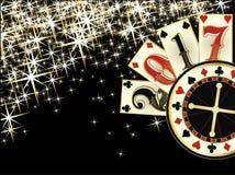Bożenarodzeniowy kasyno Szczęśliwa nowego roku 2017 karta Zdjęcie Royalty Free