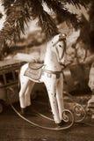 Bożenarodzeniowy kołysa koń Obrazy Royalty Free
