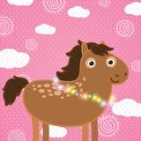 Bożenarodzeniowy koń. Wakacyjna ilustracja Obrazy Royalty Free
