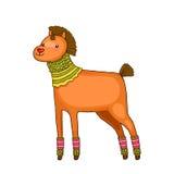 Bożenarodzeniowy koń. Wakacyjna ilustracja Fotografia Stock