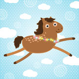 Bożenarodzeniowy koń. Wakacyjna ilustracja Obraz Stock