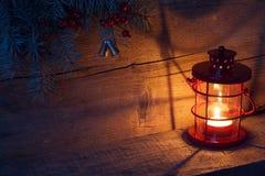 Bożenarodzeniowy lampion Fotografia Royalty Free