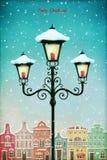 Bożenarodzeniowy lampion ilustracji