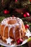 Bożenarodzeniowy Madeira tort zdjęcia stock