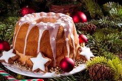 Bożenarodzeniowy Madeira tort fotografia stock