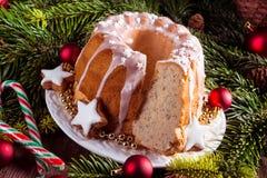 Bożenarodzeniowy Madeira tort zdjęcie stock