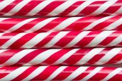 Bożenarodzeniowy miętowego cukierku trzciny zakończenie up Zdjęcie Stock