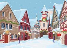 Bożenarodzeniowy miasteczko ilustracja wektor