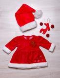 Bożenarodzeniowy modny dziecko ustawiający odziewa zdjęcie royalty free