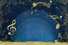 Bożenarodzeniowy muzykalny zaproszenia tło ilustracji