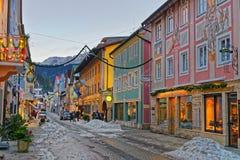 Bożenarodzeniowy nastrój w Garmisch-Partenkirchen obraz stock