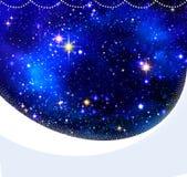 Bożenarodzeniowy nocnego nieba tło Obrazy Royalty Free
