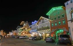 Bożenarodzeniowy oświetlenie w Leavenworth zdjęcie royalty free