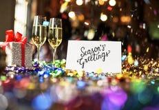 Bożenarodzeniowy otuchy świętowania przyjęcia Xmas pojęcie Zdjęcie Royalty Free