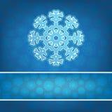Bożenarodzeniowy płatek śniegu aplikaci tło. + EPS8 Zdjęcia Royalty Free