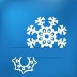 Bożenarodzeniowy płatek śniegu na błękicie. + EPS8 Zdjęcie Royalty Free