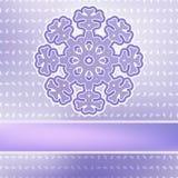 Bożenarodzeniowy płatek śniegu na czerwonych purpurach. + EPS8 Obrazy Stock