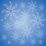 Bożenarodzeniowy płatek śniegu w bławym Obrazy Royalty Free
