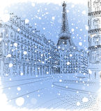Bożenarodzeniowy Paryż Fotografia Royalty Free