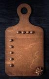Bożenarodzeniowy pojęcie, menu na drewnianej desce gwiazdowy anyż, kawa i cynamon, Fotografia Stock