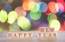 Bożenarodzeniowy pojęcie z Szczęśliwą nowy rok wiadomością Zdjęcie Stock