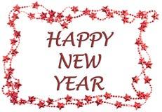 Bożenarodzeniowy pojęcie z Szczęśliwą nowy rok wiadomością Zdjęcia Stock