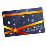 Bożenarodzeniowy prezent karty szablon Zdjęcia Royalty Free