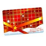 Bożenarodzeniowy prezent karty szablon Fotografia Royalty Free