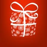Bożenarodzeniowy prezenta pudełko robić od płatków śniegu. + EPS8 Obrazy Royalty Free
