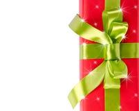 Bożenarodzeniowy prezenta pudełko z gwiazdami Zdjęcie Stock