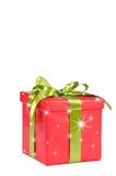 Bożenarodzeniowy prezenta pudełko z gwiazdami Obraz Royalty Free