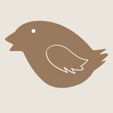 Bożenarodzeniowy ptasi ciastko royalty ilustracja
