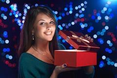 Bożenarodzeniowy pudełko Fotografia Royalty Free