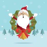 Bożenarodzeniowy Santa Claus śnieg Fotografia Stock