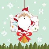 Bożenarodzeniowy Santa Claus śnieg Zdjęcie Stock