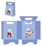 Bożenarodzeniowy Snowball Torebka pakunków wzór Fotografia Stock