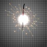 Bożenarodzeniowy Sparkler na Przejrzystym tle ilustracji