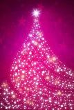 Bożenarodzeniowy sparkly drzewny tło Zdjęcia Stock